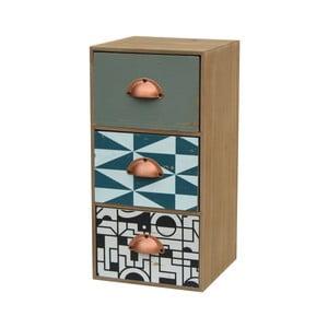 Stolový organizér z jedľového dreva s 3  zásuvkami Livin Hill Portofino