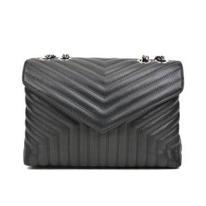 Čierna kožená kabelka Luisa Vannini Miraco