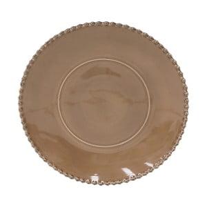 Kakaovohnedý kameninový servírovací tanier Costa Nova Pearl, ⌀33 cm