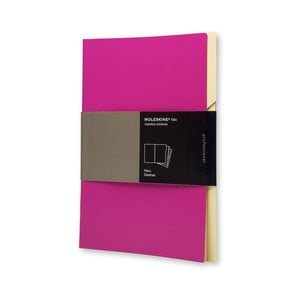 Sada 3 ks zložiek Moleskine Folio Filer Hot Pink, A4