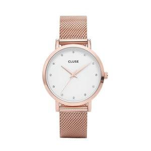 Dámske hodinky vo farbe ružového zlata Cluse Pavan