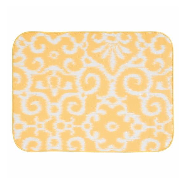 Žltá odkvapávacia podložka InterDesign iDry, 61x46cm