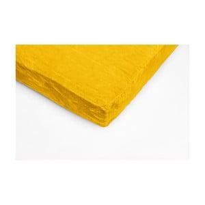 Žltá mikroplyšová prikrývka na dvojlôžko My House, 180×200 cm