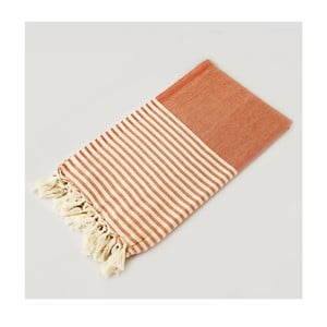 Hammam osuška Marine Style Orange, 100x180 cm