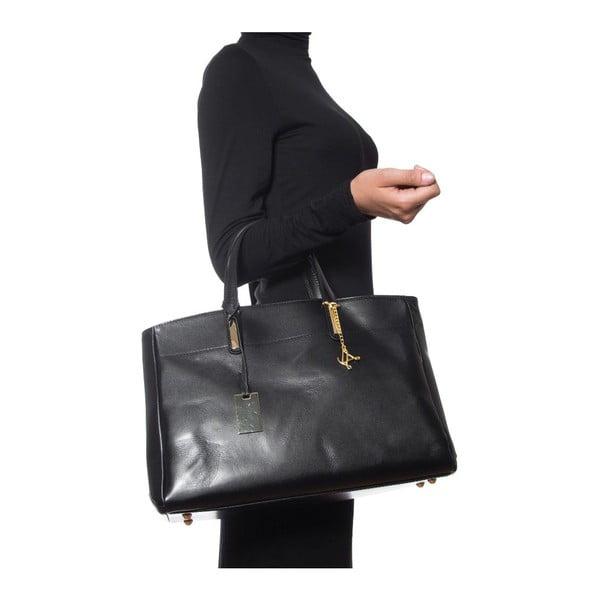 Kožená kabelka Luisa Vannini 380 Black