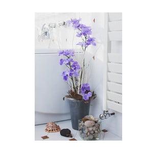 Kvetinová dekorácia od Aranžérie, váza s fialovou orchideou
