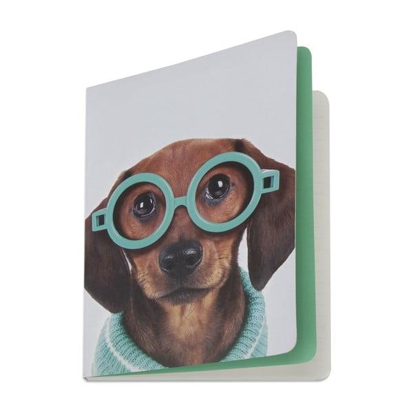 Zápisník Glasses Dog