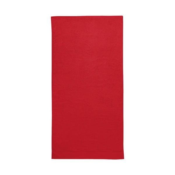 Červená osuška Seahorse Pure, 70 x 140 cm