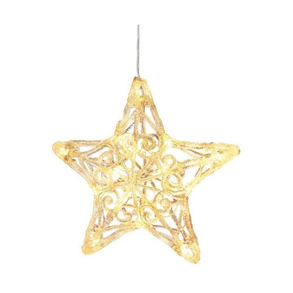 Závesná svietiaca hviezda Best Season Crystal Snowflake, 25 cm