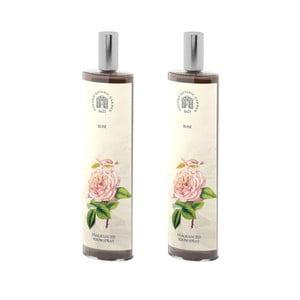 Sada 2 interiérových vonných sprejov s vôňou ruže Bahoma London Fragranced, 100 ml
