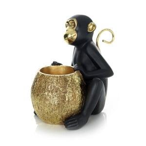 Čierna dekoratívna soška 360 Living Primate 222