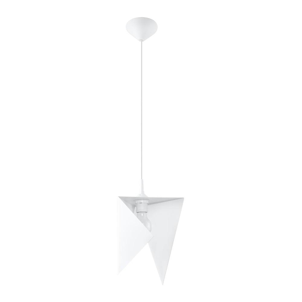 Biele závesné svietidlo Nice Lamps Trigono