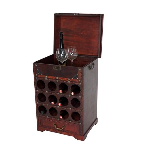 Hnedý stojan na 12 fliaš vína Mendler Shabby Colonial 69 cm