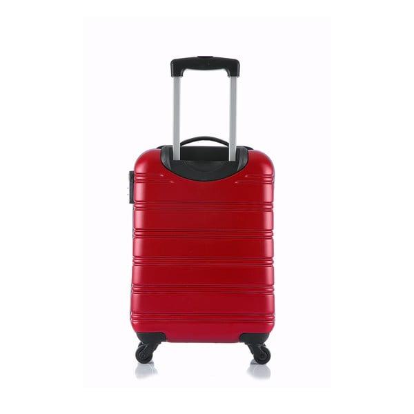 Červený príručný kufor na kolieskach Blue Star Bilbao