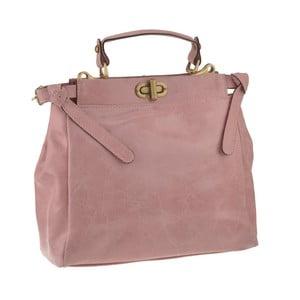 Ružová kožená kabelka Florence Electra