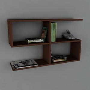 Polica Belitz Book Wenge, 22x90x55,5 cm