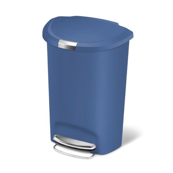 Pedálový kôš na odpadky Roundes 50 l, modrý