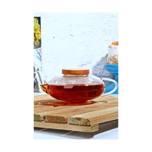 Sklenená čajová kanvička s bambusovým viečkom Kutahya Roiboos