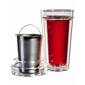 Set pohárov na čaj so sitkom bloomix