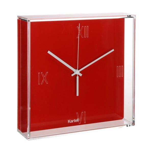 Červené nástenné hodiny Kartell Tic Tac