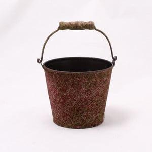 Hnedý plechový obal na kvetináč Dakls II