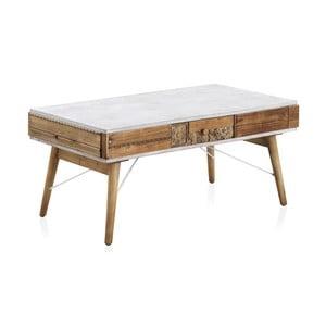 Konferenčný stôl s bielymi detailmi Geese Rustico Puro