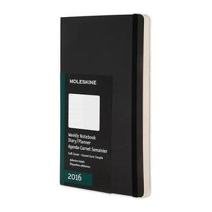 Týždenný diár Moleskine Notebook, 9x14 cm