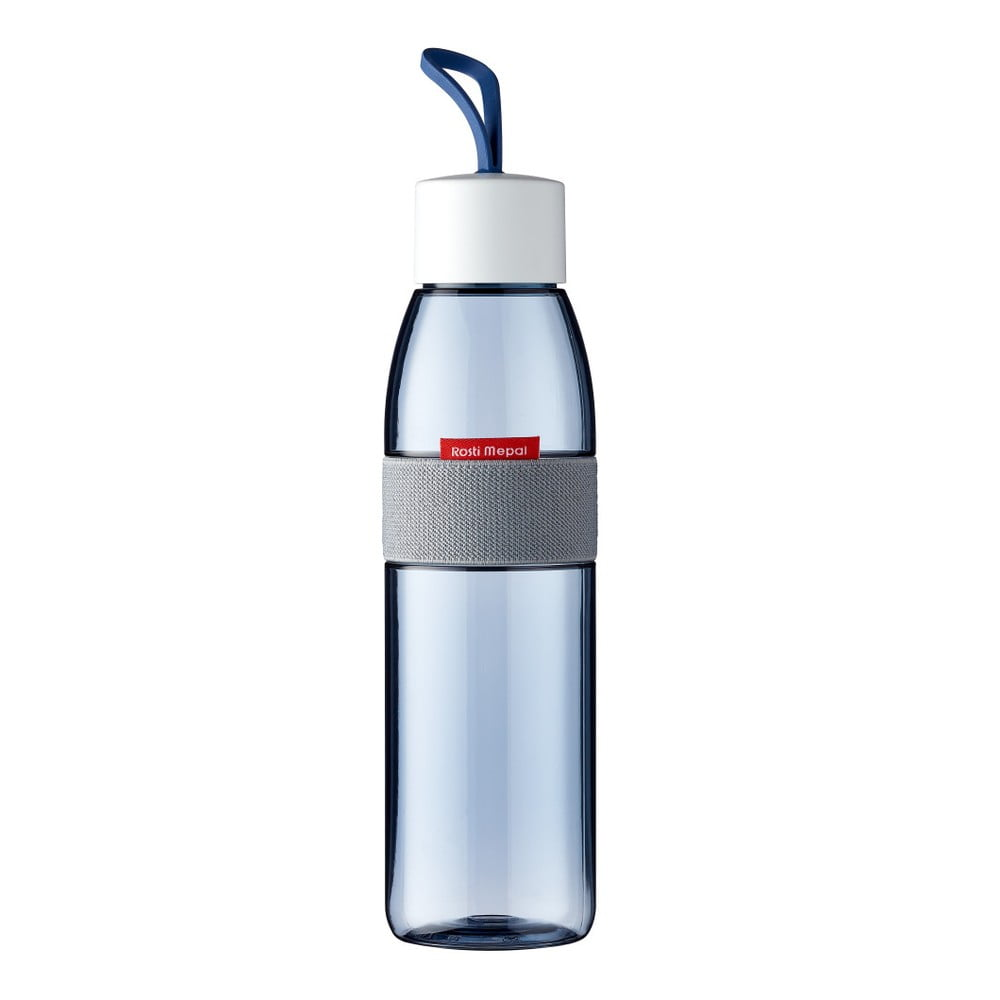 Modrá fľaša na vodu Rosti Mepal Ellipse, 500 ml