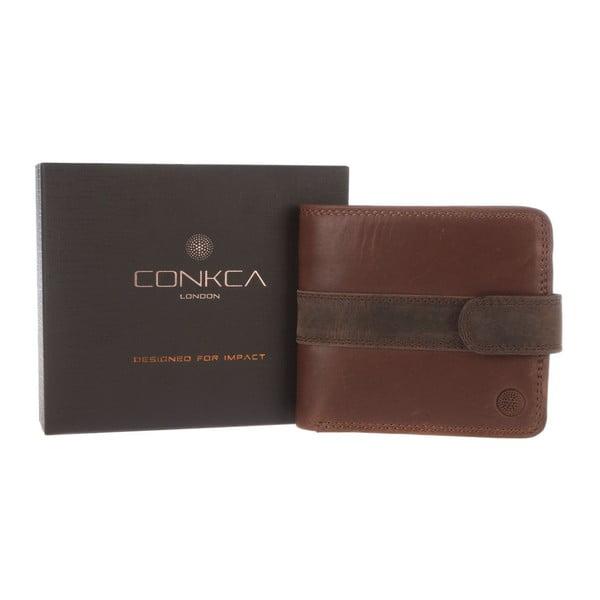 Kožená peňaženka Evan Conker Brown