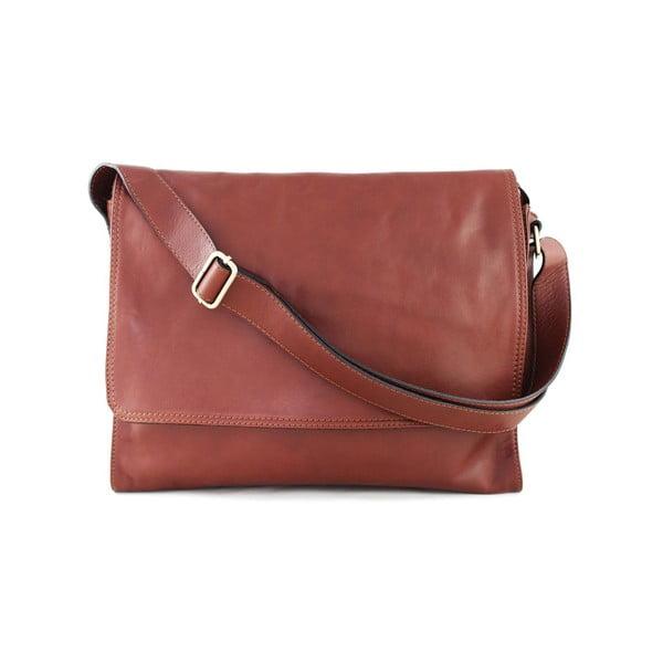 Kožená unisex taška Salesia Marrone