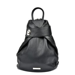 Čierna kožený batoh Anna Luchini Louisa