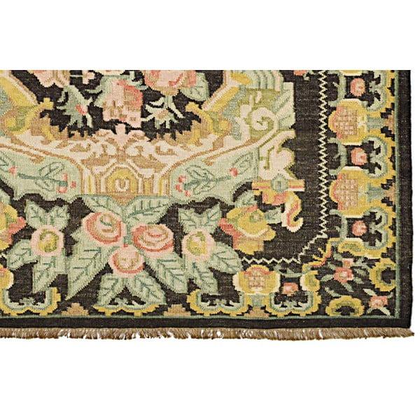 Vlnený koberec Kilim Floral No. 174, 155x240 cm