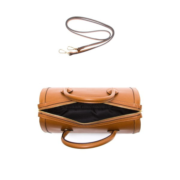 Hnedá kožená kabelka Sofia Cardoni Iniga