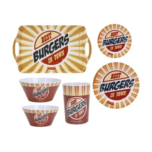 6-dielna kempingová sada riadu Postershop Best Burgers