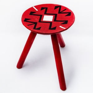 Ručne maľovaná stolička Voila, 38 cm