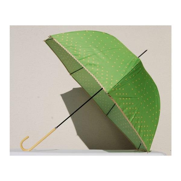 Bodkovaný dáždnik Dots, zelený