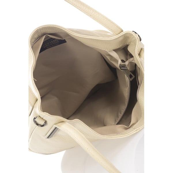 Kožená kabelka Caja, béžová