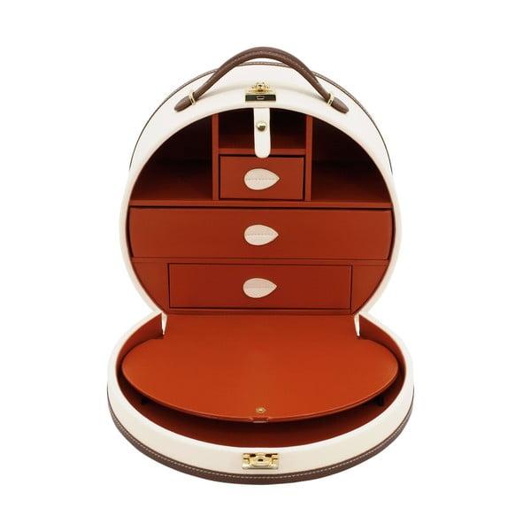 Svetlobéžová šperkovnica/kozmetický kufrík Friedrich Lederwaren Ascot
