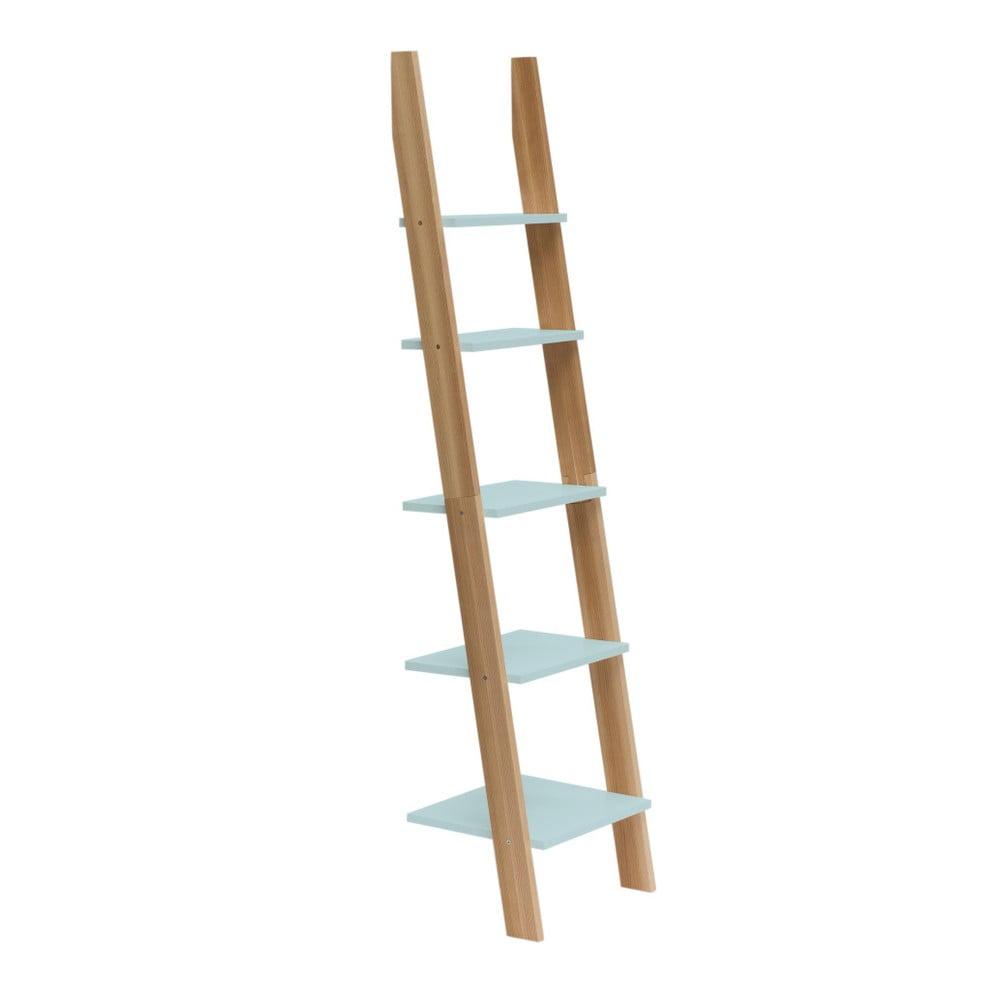 Svetlotyrkysová rebríková polica Ragaba ASHME, šírka 45 cm