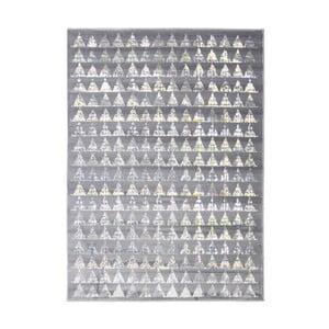 Sivý vysokoodolný koberec Floorita Optical Garro, 117 x 170 cm