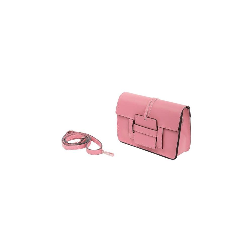 Ružová kabelka z pravej kože Andrea Cardone Paolo 356a394061b