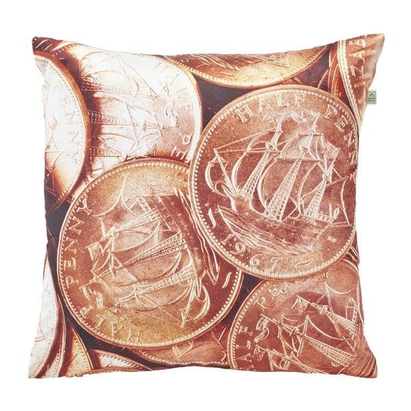 Vankúš Coins Copper, 45x45 cm