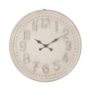 Biele nástenné vintage hodiny J-Line, 78 cm