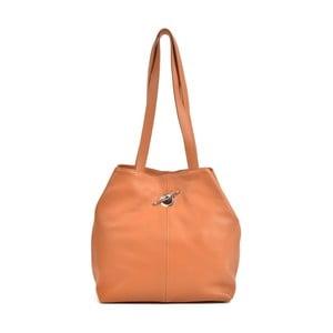Koňakovohnedá kožená kabelka Mangotti Bags Alma