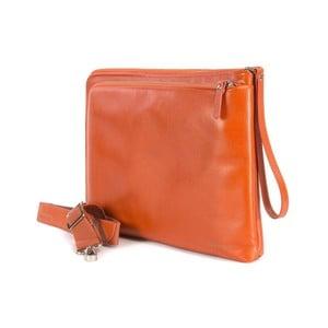 Oranžová taška s popruhom na ruku z talianskej kože Tucano Elle