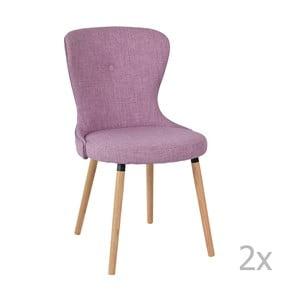 Sada 2 fialových stoličiek RGE