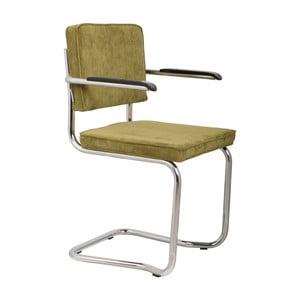 Sada 2 zelených stoličiek s opierkami Zuiver Ridge Kink Rib