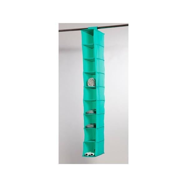 Zelený závesný organizér s 9 priehradkami Compactor Rack