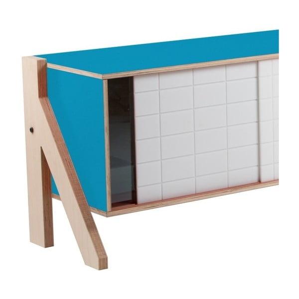 Modrá komoda rform Frame, dĺžka115cm