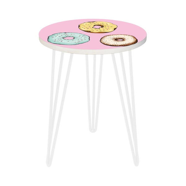 Sada 2 odkladacích stolíkov Tasty Donuts, 35 cm + 49 cm